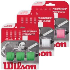 Wilson Pro Overgrip Perforated Pink